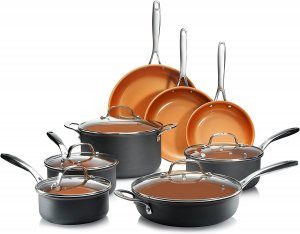 Gotham Steel Hard Anodized Premium Cookware Set, 13 Piece