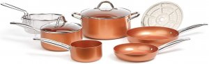 Copper Chef Round Pan Cookware Set, 9 Piece